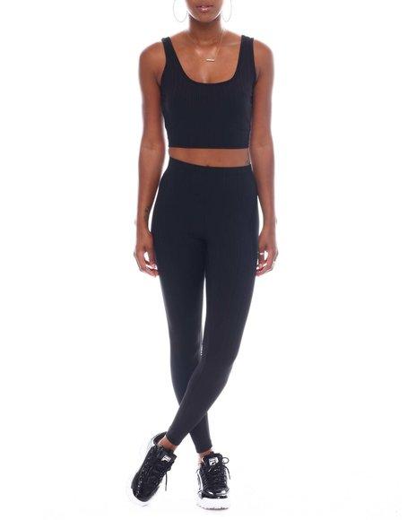 Fashion Lab - Set Crop Top With Leggings