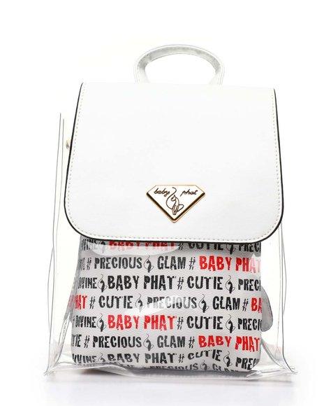 Baby Phat - Baby Phat Printed Clear Backpack W/ Inner Bag