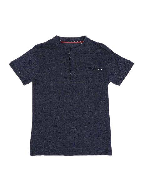 SASCO - Textured Moon Static Henley Shirt (8-18)