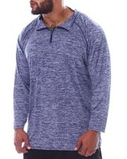 T-Shirts - 1/4 Zip Performace Long Sleeve Top (B&T)-2522473