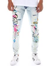 SMOKE RISE - Graffiti Slim Jean-2525229