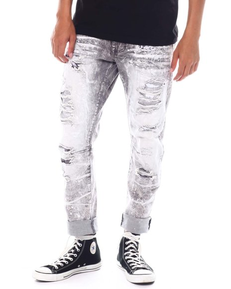 SMOKE RISE - Slim Fit Distressed Jean