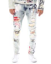 SMOKE RISE - Americana Paint Slim Jean-2525298