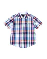Boys - Plaid Button Down Shirt (4-7)-2521680