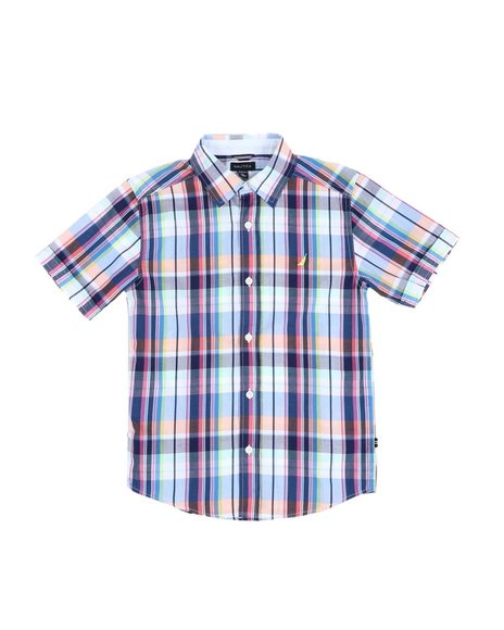 Nautica - Plaid Button Down Shirt (8-20)