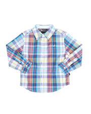 Sizes 2T-4T - Toddler - Plaid Long Sleeve Button Down Shirt (2T-4T)-2521690