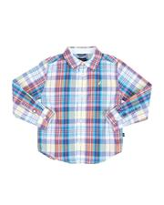 Boys - Plaid Long Sleeve Button Down Shirt (4-7)-2521694