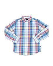 Boys - Plaid Long Sleeve Button Down Shirt (8-20)-2521699