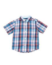 Boys - Plaid Button Down Shirt (4-7)-2521704