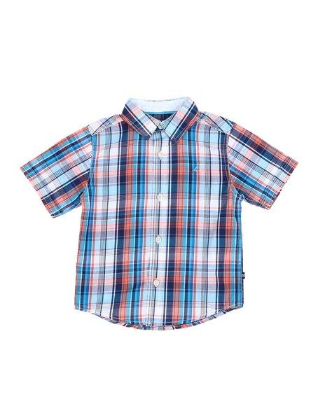 Nautica - Plaid Button Down Shirt (4-7)