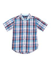 Boys - Plaid Button Down Shirt (8-20)-2521709