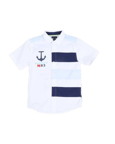 Nautica - Anchor Stripe Button Down Shirt (8-20)
