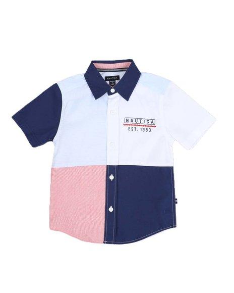 Nautica - Color Block Button Down Shirt (4-7)