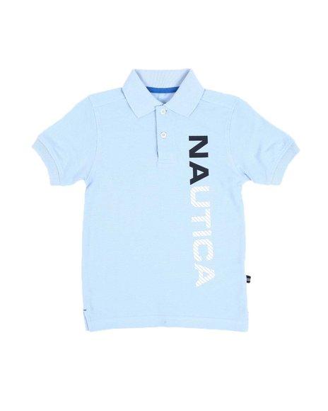 Nautica - Vertical Logo Polo Shirt (4-7)