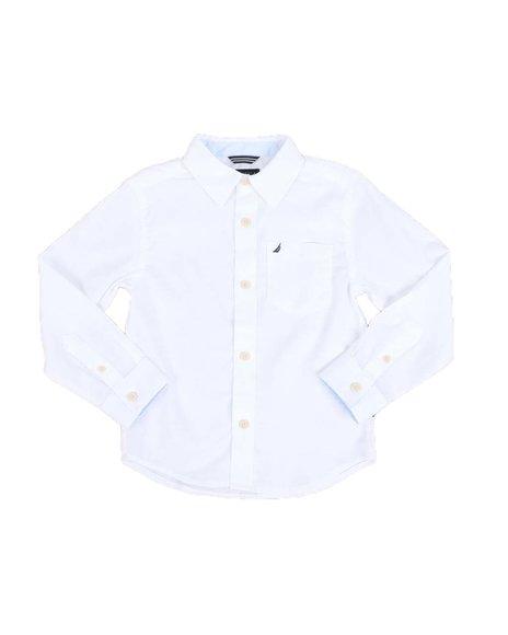 Nautica - 1 Pocket Long Sleeve Button Down Shirt (4-7)