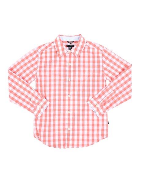 Nautica - Checkered Long Sleeve Button Down Shirt (8-20)