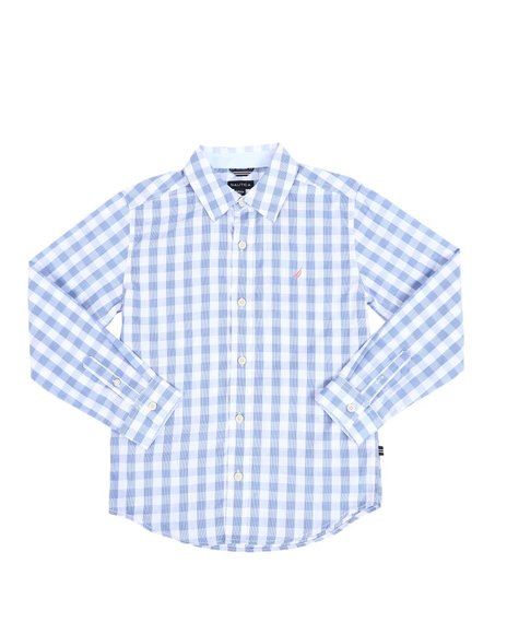 Nautica - Checkered Long Sleeve Button Down Shirt (8-20)
