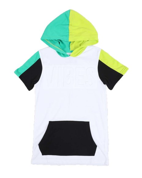 FIVE BY FIVE - Color Block Kangaroo Pocket Hooded Tee (8-20)