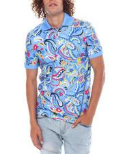 Shirts - Light Blue Paisley Polo-2518967