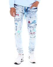 Copper Rivet - Icon Print Jean w Drawstring Detail-2524947