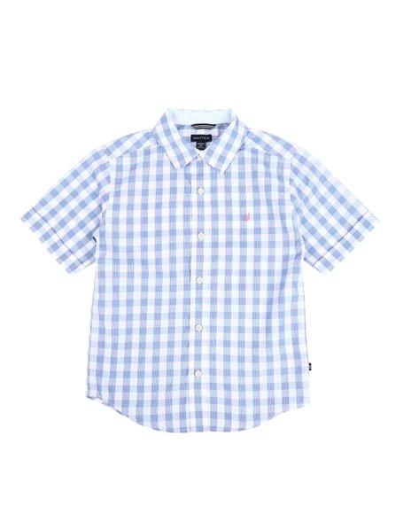 Nautica - Checkered Button Down Shirt (8-20)