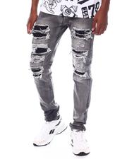 Jeans & Pants - Grey Bleach Ripped Jean-2525490
