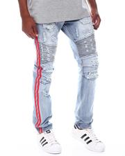 Jeans & Pants - Moto Jean with Red Stripe detail-2525569