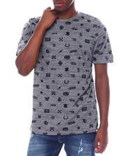 Shirts - TRADEMARK AOP SS VNECK TEE-2525003