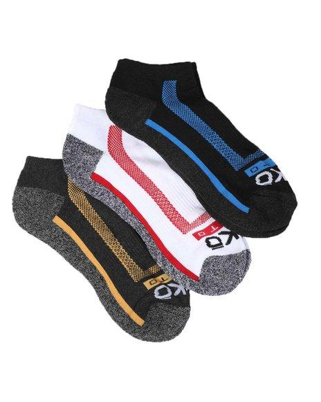 Ecko - 3 Pack 1/2 Cushion No Show Socks