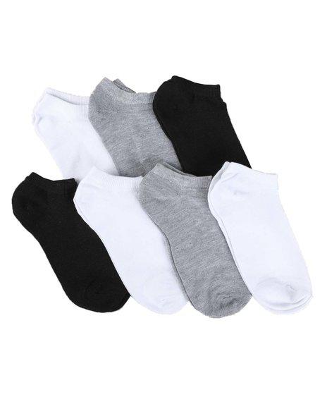 Arcade Styles - 7 Pack No Show Socks (5-9)