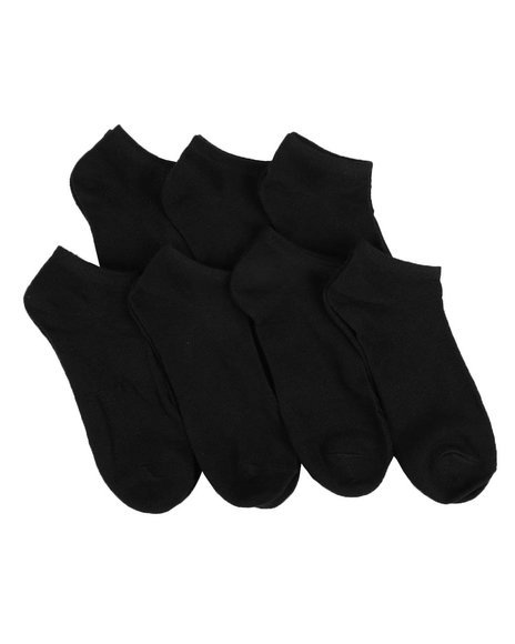 Arcade Styles - 7 Pack No Show Socks (5-9)