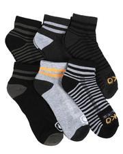 Ecko - 6 Pack Quarter Cushion Socks-2524051