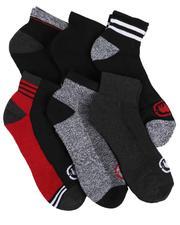 Ecko - 6 Pack Quarter Cushion Socks-2524052