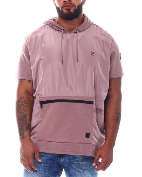 Marc Ecko Collection - French Terry Short Sleeve Hooded Top (B&T)