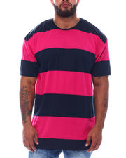 Holiday Shop - Crew Neck Rugby Stripe Tee High-Low (B&T)-2526096