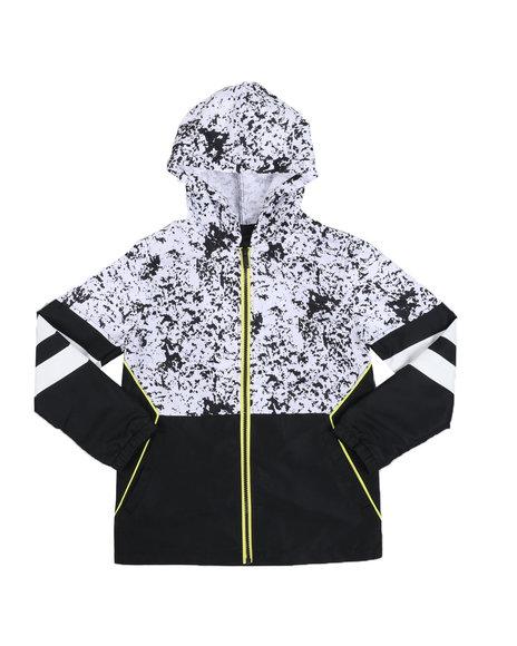 FIVE BY FIVE - Animal Print Color Block Zip Up Jacket (8-20)