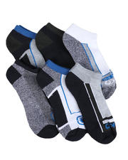 Ecko - 6 Pack 1/2 Cushion No Show Socks-2524047