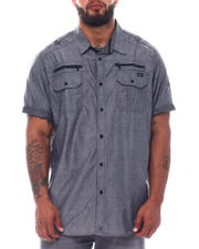 Marc Ecko Collection - Short Sleeve Woven Dobby Shirt (B&T)-2526175