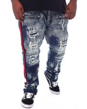 Big & Tall - Moto Biker Distressed Jeans (B&T)-2521885