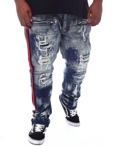 Makobi - Moto Biker Distressed Jeans (B&T)