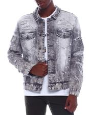 Denim Jackets - Distressed Denim Jacket-2528953