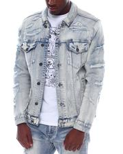 Denim Jackets - Distressed Denim Jacket-2528972