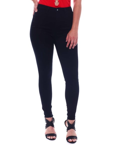 Fashion Lab - Skinny Ponte  Pants With Expose Button Jeans