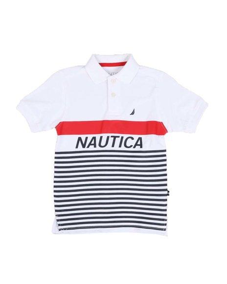 Nautica - Stripe Logo Polo Shirt (4-7)