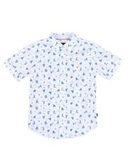 Nautica - Sailboat Print Button Down Shirt (8-20)-2527572