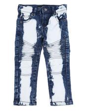 Arcade Styles - Stretch Moto Jeans W/ Bleaching (2T-4T)-2529020