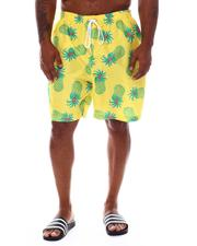 "Swimwear - Pineapple Print 8"" Swim Trunks (B&T)-2526283"
