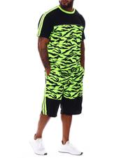 Buyers Picks - Tiger Neon Camo Colorblock T-Shirt & Shorts Set (B&T)-2530648