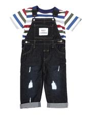 Sets - 2 Pc Denim Overall & Striped Tee Set (2T-4T)-2528943