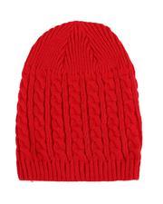 Fashion Lab - Cuffless Cableknit Beanie-2529755